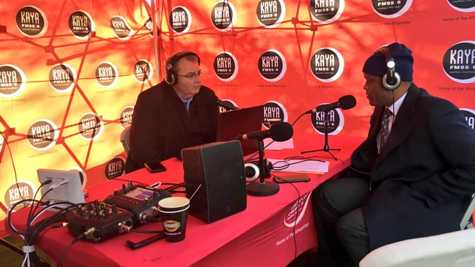 [ON AIR] @davidosullie in conversation with Jerry Mabena Chairman Of Thebe Services on #BreakfastwithDavid talking about the turning of the sword at the Mandela Presidential Center Of Reflections. #MadibaHouseOfReflection Photo