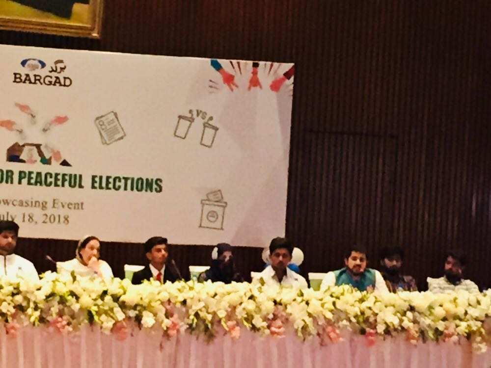 Obaid Khan from Swat University says,  'I started guidance from my home & told my mother abt importance of vote , took her to neighborhood & convinced other women to cast their vote' #HerVote