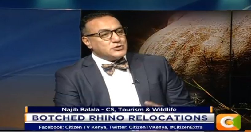 Najib Balala:  I run a ministry that is purely on policies; I do not execute. I do not even approve. The person who has done a mistake should be the one to take responsibility #CitizenExtra
