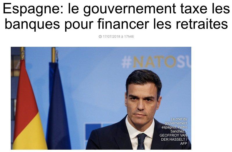 En France, c'est l'inverse  @EmmanuelMacron a taxé les retraités  (#CSG) pour financer les cadeaux aux riches, notamment aux traders et  banquiers (#ISF #FlatTax + fin de la taxe sur très hauts revenus).
