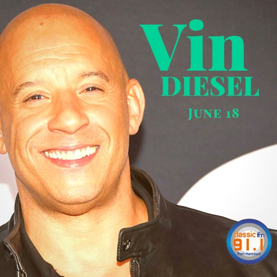 Happy birthday to actor and producer, Vin Diesel