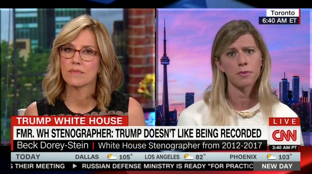 White House Stenographer Who Quit Speaks Out on CNN: Trump is 'Lying to the American People' https://t.co/M6X0nUidqx