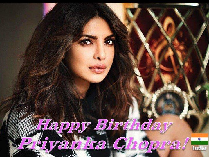 Happy Birthday to the very beautiful and extremely talented #PriyankaChopra! #HappyBirthdayPriyankaChopra! 👏🇮🇳🎶🎤🎂🎉🎁🎈💐😍🌟💫🎇