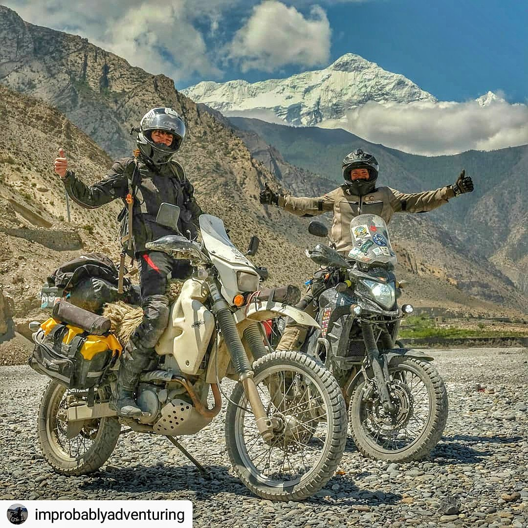 "Mission Accomplished. photo by improbablyadventuring  • • • • • sarkababicka's instructions were for us to ""look accomplished"". Think we succeeded? #annapurna #drz400 #cb500x #rallyraid #advrider #womenadvriders #dualsport #goteam #CityMotorbike #visitNepal2020 #Mustang<br>http://pic.twitter.com/GQUTOd0FSI"