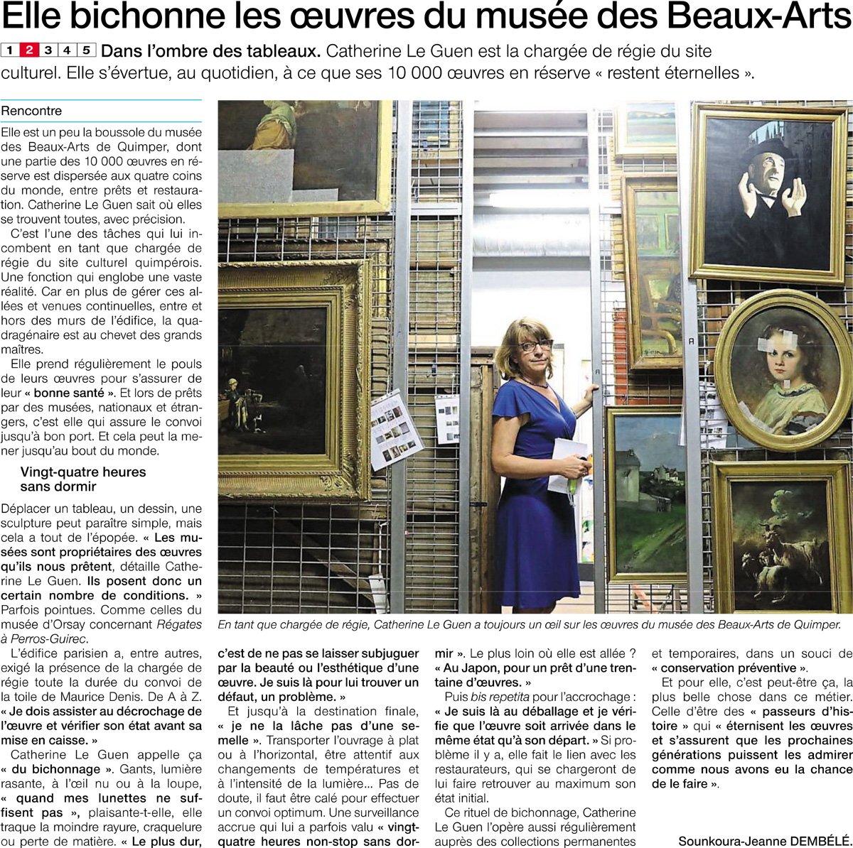 [LA PRESSE EN PARLE] #metier #job #musee #quimper #bretagnemusees #RegieDesOeuvres   - FestivalFocus