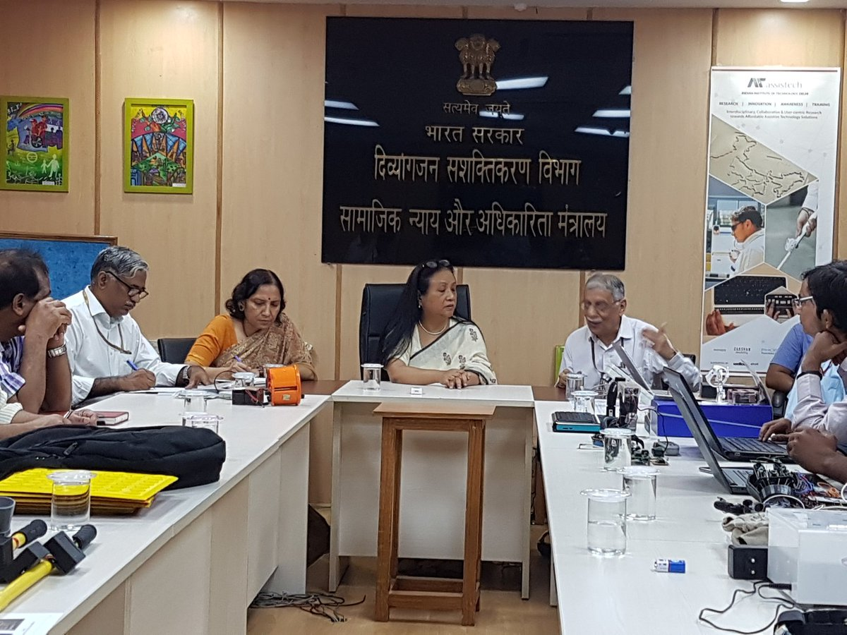 Secretary, DEPwD chaired a meeting with DST for exploring the possibility of commercialization of various technological interventions developed by @IndiaDST for the benefit of Persons with Disabilities.   #Accessibility #AssistiveDevices