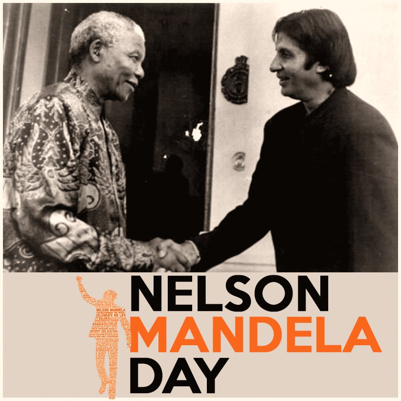 T 2871 - Nelson Mandela DAY .. 100th birth anniversary .. !! Had my greatest honour to meet him in SoAfrica on two momentous occasions ! A humble caring down to earth personality .. visited his cell in Robben Island prison .. historic visit !