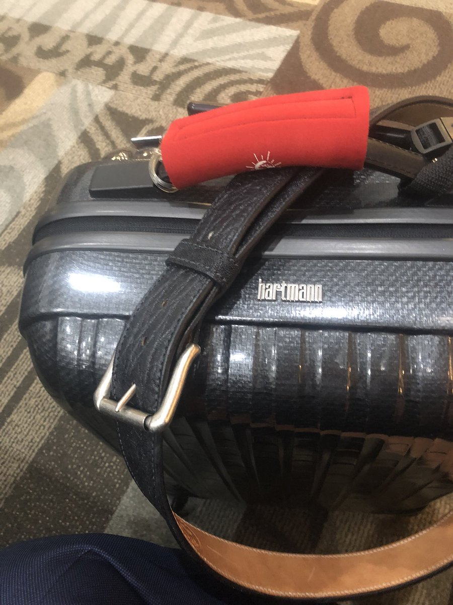 "Traveling?  If you have a @HartmannLuggage bag, toss it in trash and get a cardboard box to drag thru airport.  Saves time and money. Had 2 of them and both piece of junk. Using a belt to drag bag today.  Pretty redneck but this rollerboard should be called ""draggerboard""."