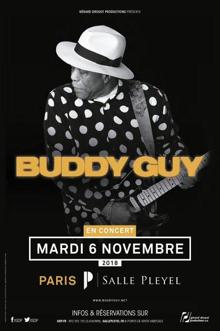 @TheRealBuddyGuy - mardi 06 novembre - @sallepleyel  Agé de 79 ans, #buddyguy figure au Panthéon du Rock'n Roll.  - BILLETS >> https://t.co/J6TpVmSqM6 Concert présenté par @GDP https://t.co/ThXy
