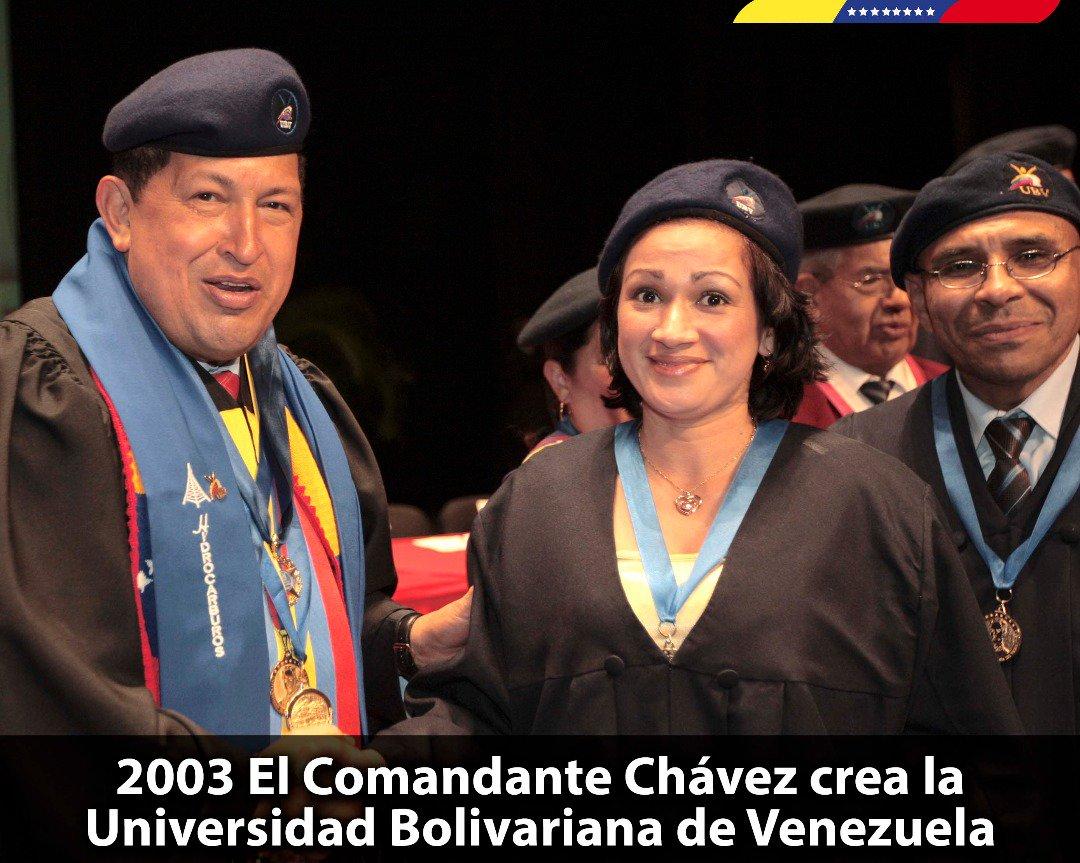 Hace 15 años nació la hija de nuestro Cmdte. Chávez, la @UBV. Creada para impulsar, basado en ideales de inclusión, el Socialismo Bolivariano a través de la educación liberadora. Sigan contribuyendo a la transformación de la Patria. ¡Viva la Universidad Bolivariana de Venezuela! https://t.co/PSZhFSbz3c