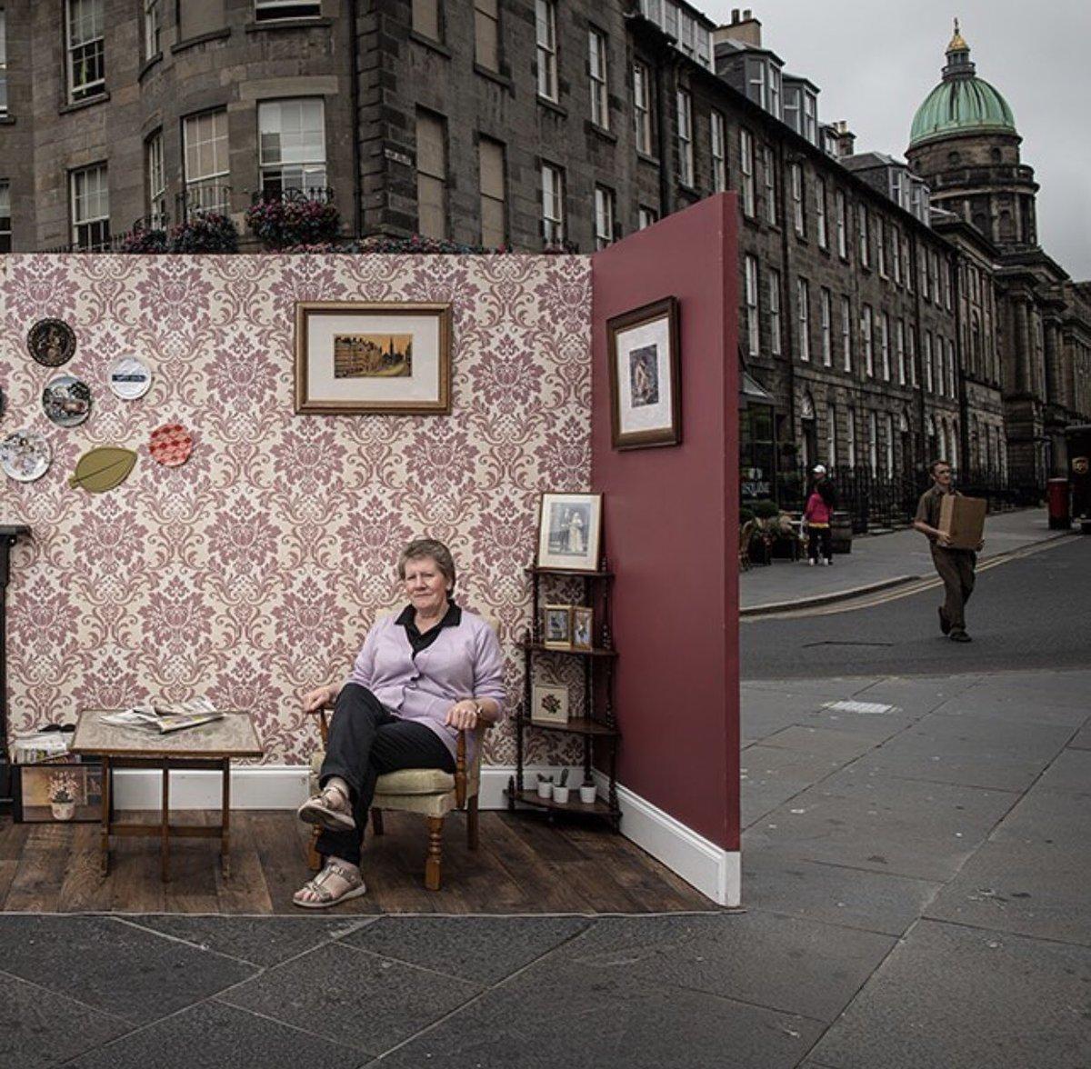 Step into our living room!  •The West End Character Project on-street photography exhibition will be launched on August 1st, 2018.   #edinburghswestend #takeacloserlook #hiddengems #edinburgh #hiddenedinburgh #discoveredinburgh #edinburghlife  @info_dereka