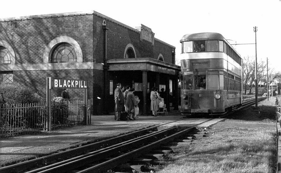 DiYp3B3W0AEWi c - By Rail to the Mumbles