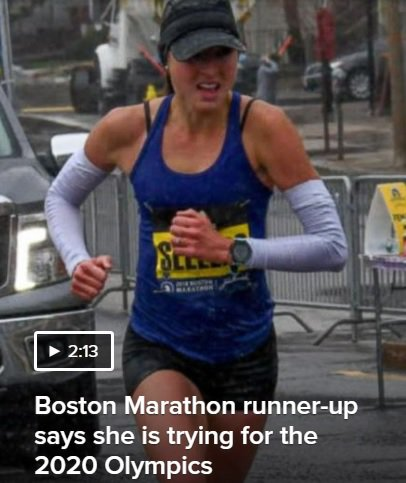 WATCH: 2018 #BostonMarathon 2nd place finisher @SarahWhoSellers was interviewed on @Nightline last night. The clip is free-to-watch here: abcnews.go.com/Nightline #ESPYS2018