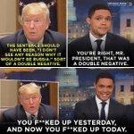 Image for the Tweet beginning: English 1, Trump 0.   Full