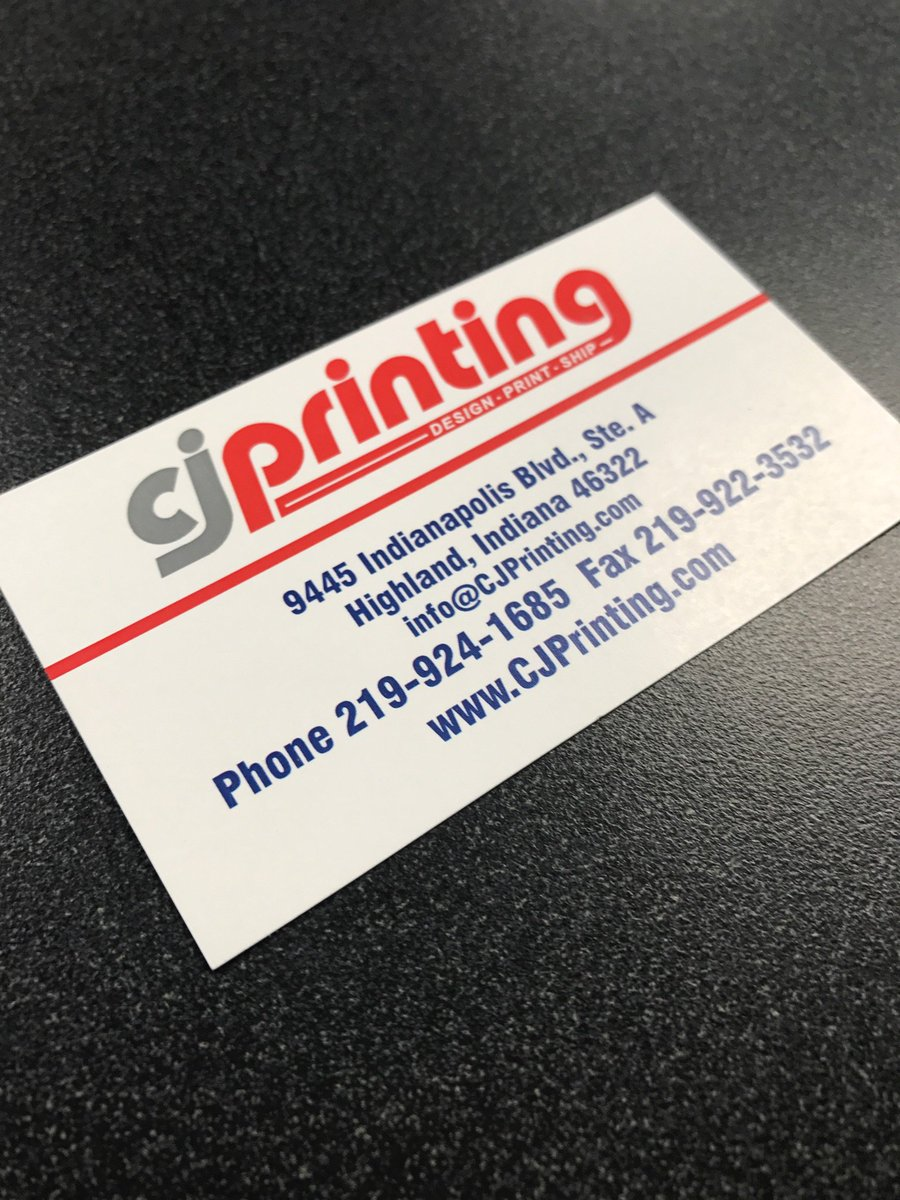 Cj printing cjprinting twitter does your business need custom printed business cards give us a call at 219 922 3520 9445 indianapolis blvd ste a highland indiana 46322 reheart Choice Image