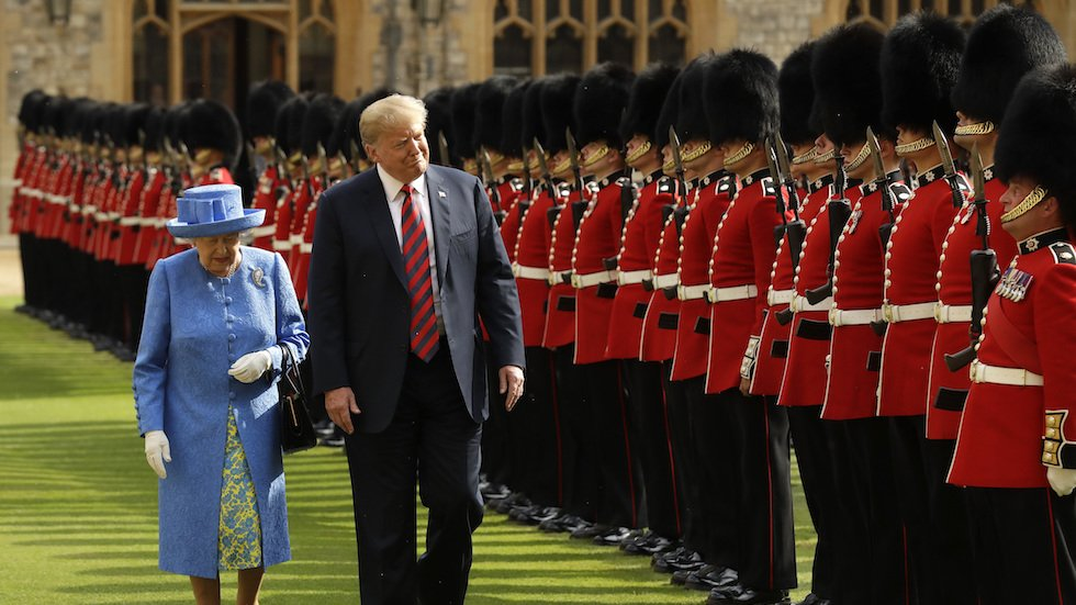 Trump falsely claims Queen Elizabeth reviewed honor guard for first time in 70 years during his visit: https://t.co/5jjYcj6AdJ