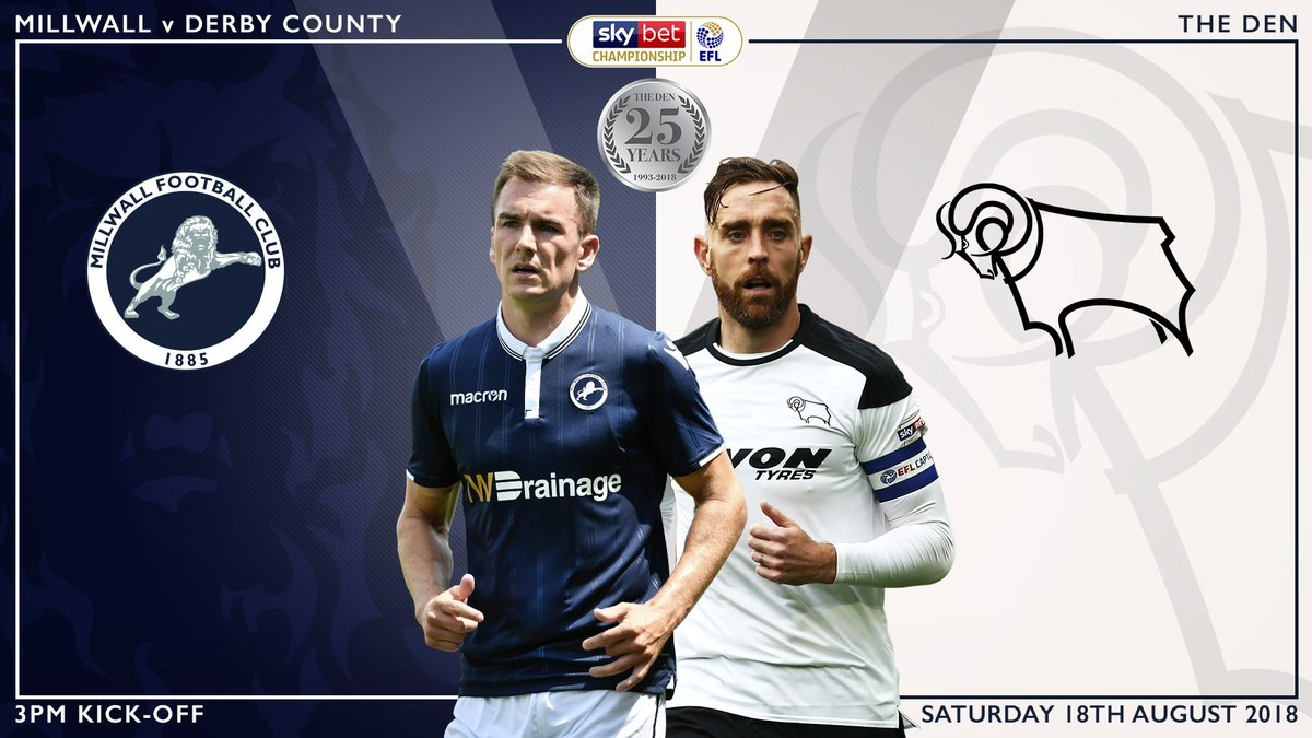 🎟 Tickets for #Millwalls @SkyBetChamp meeting with @dcfcofficial at The Den are now on general sale. Buy ➡️ bit.ly/2uKS5fc