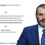 AK Parti Sözcüsü Mahir Ünal Twitter Photo