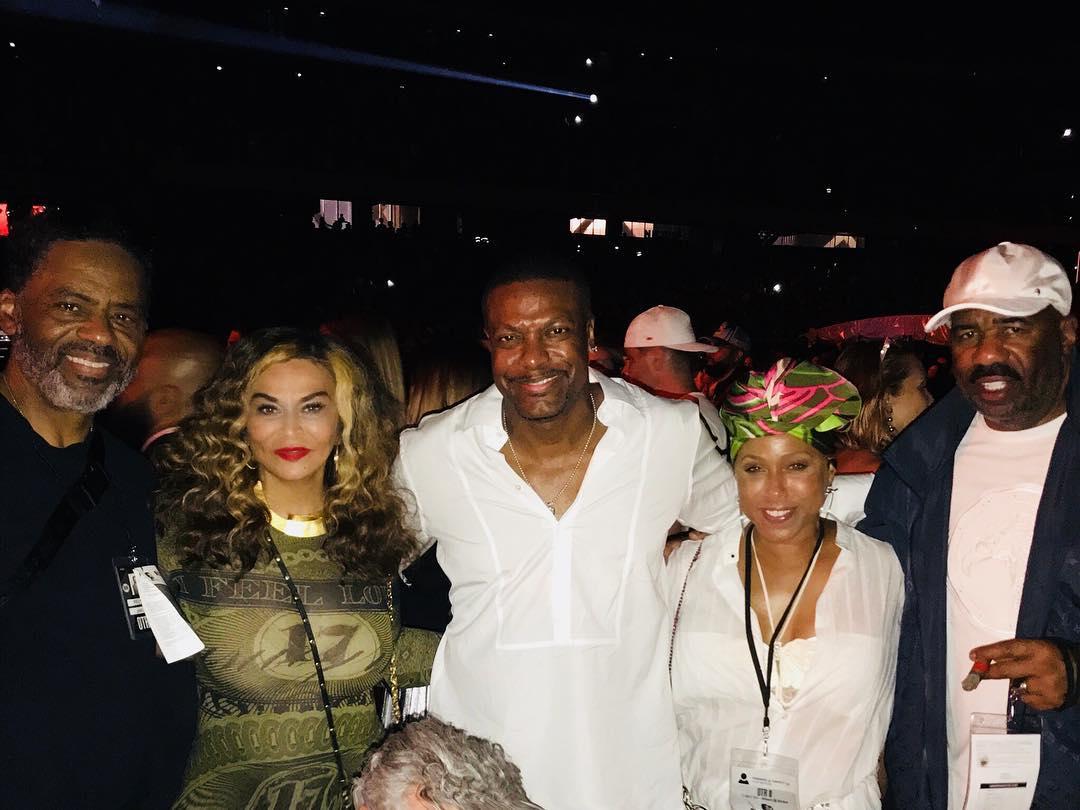 Ms. Tina, @MrRichardLawson, @christuckerreal, @IAmSteveHarvey &amp; Marjorie Harvey attending Beyoncé &amp; JAY-Z&#39;s show in Nice. #OTRII   http:// bit.ly/OTRIItickets  &nbsp;  <br>http://pic.twitter.com/XXoFox6hK6
