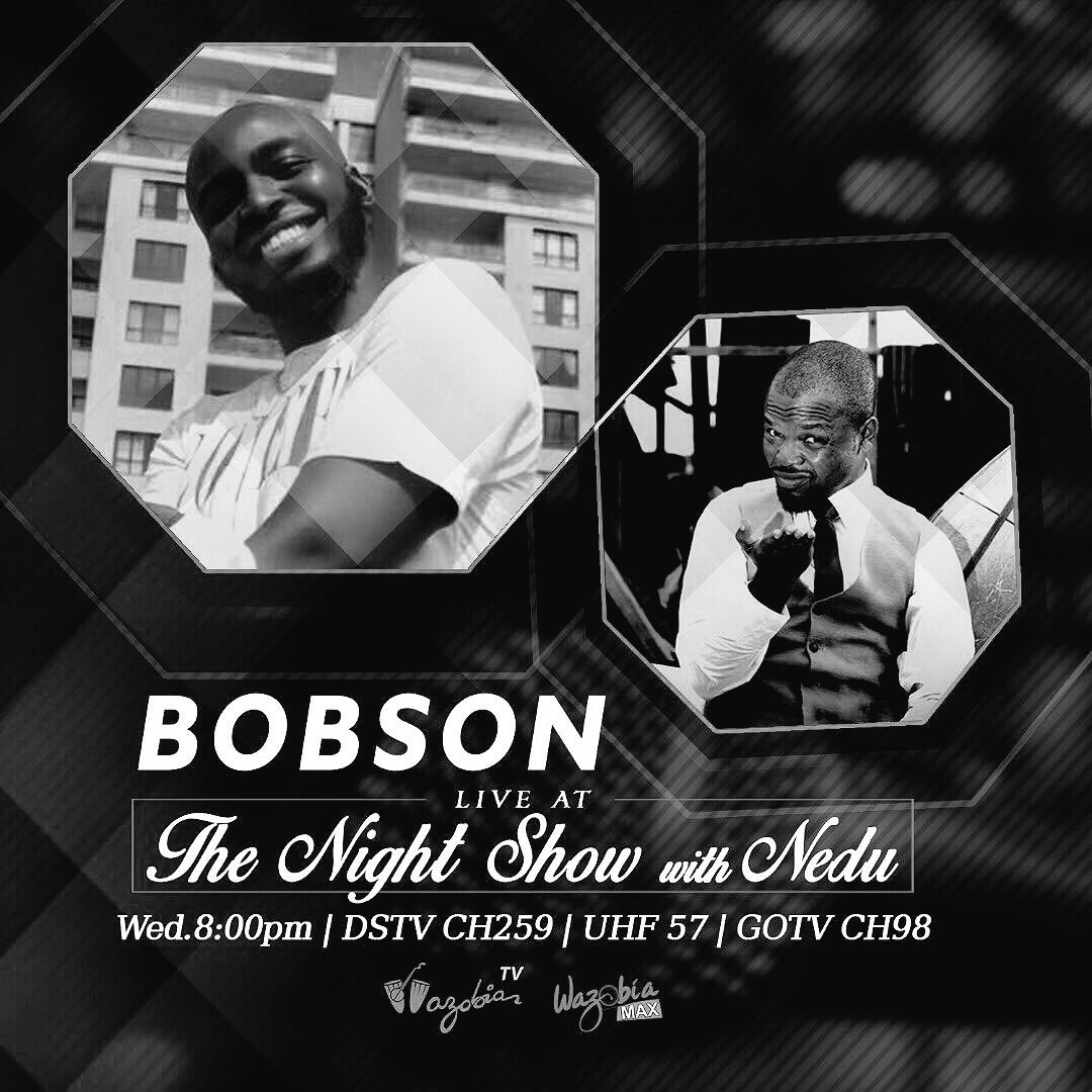 8PM FAMOUS BOBSON WILL BE ON THE NIGHT SHOW WITH NEDU ON WAZOBIA TV 📺📺 CHANNEL 259 ON DSTV 🔥🔥 MAKE SURE TO TUNE IN WITH YOUR FRIENDS ❤️