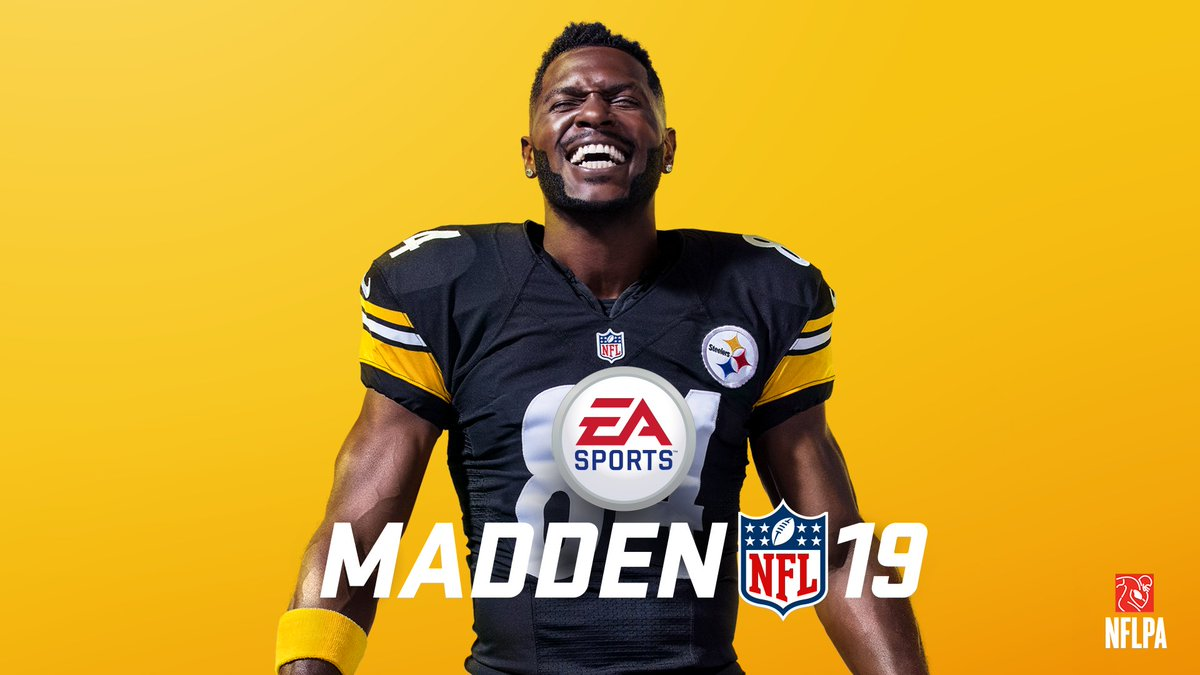 Pittsburgh Steelers WR Antonio Brown Revealed As The Cover Star Of MADDEN NFL 19