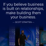Have you invested in any relationships this week? Great advice from my friend @unmarketing, Scott Stratten. #WisdomWednesday