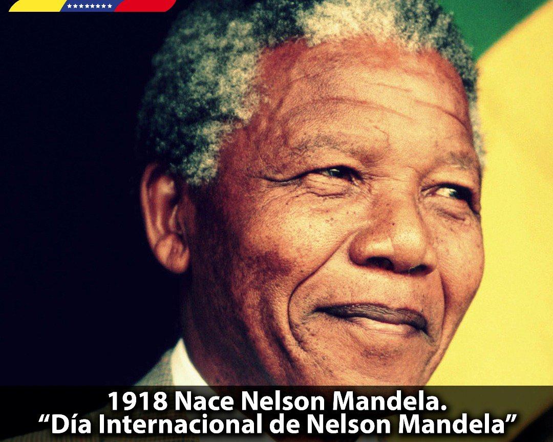 """Me uno a la celebración de los 100 años del nacimiento de """"Madiba"""" en el Día Internacional de Nelson Mandela. Líder sudafricano que luchó contra la discriminación y segregación racial; una referencia universal de igualdad y equidad para los pueblos del mundo ¡Vivirás por siempre! https://t.co/FDgoEyiMWG"""