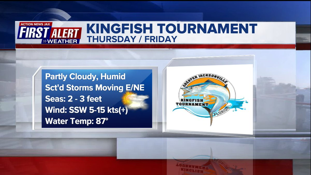 Alert Weather App: KINGFISH TOURNAMENT: Will have to watch out for