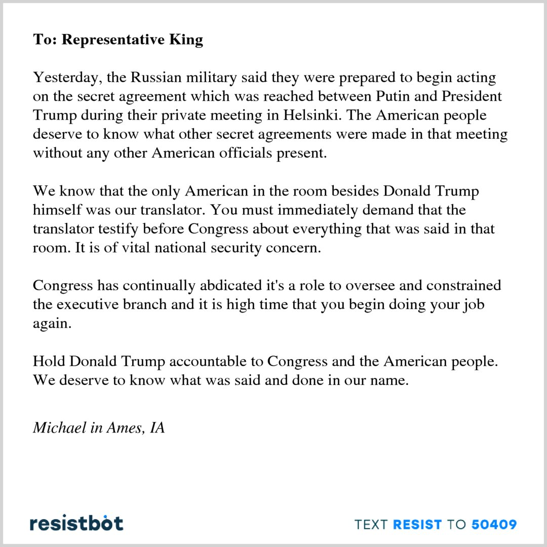 Resistbot Open Letters On Twitter Heres An Open Letter From