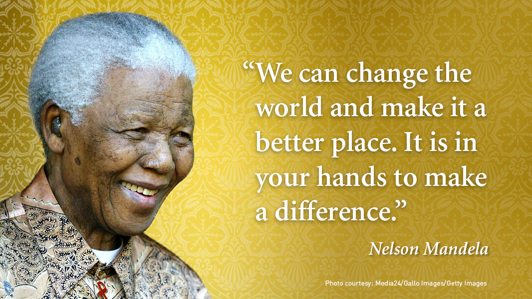On #MandelaDay, we remember that even small actions can have great impact. Let's honor his legacy by working to build a better world for all.