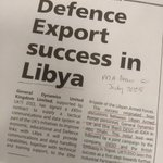 10 years ago #OnThisDay UK government helps arms company General Dynamics secure £85m deal with Libya. Work on the deal was underway when Gaddafi brutally suppressed protests against his rule https://t.co/skzSehIcqv