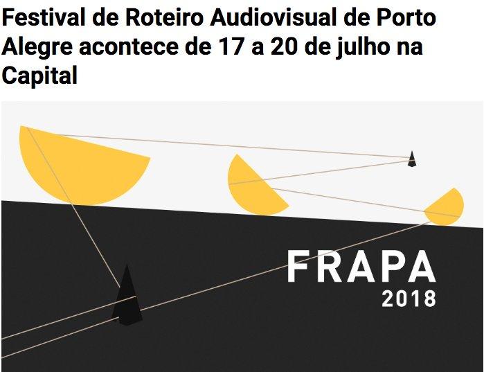Amanhã estarei em Porto Alegre para o FRAPA.  Vou conversar com o povo sobre nosso filme @CorrendoAtras na mesa Narrativas Negras. Pinta lá!