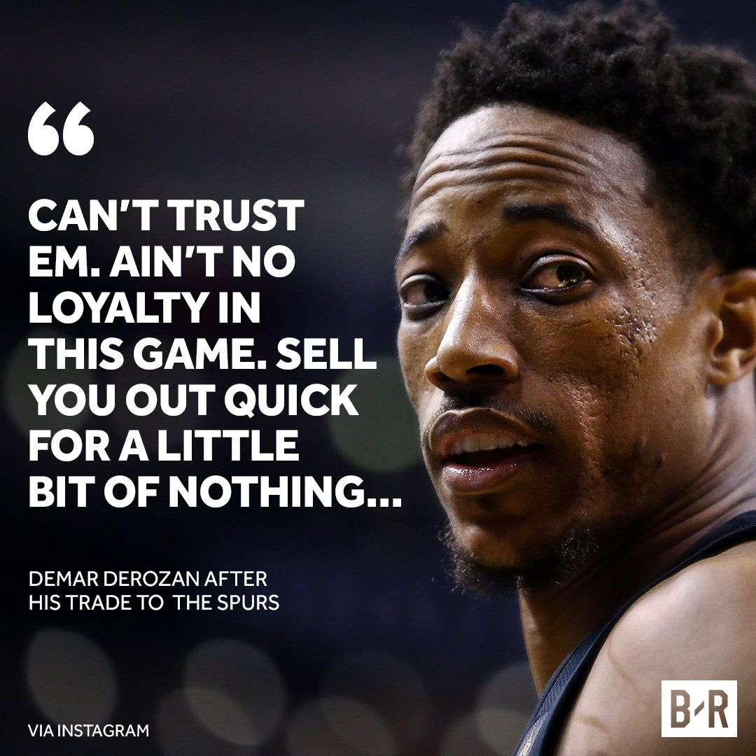 DeMar reacts to being traded