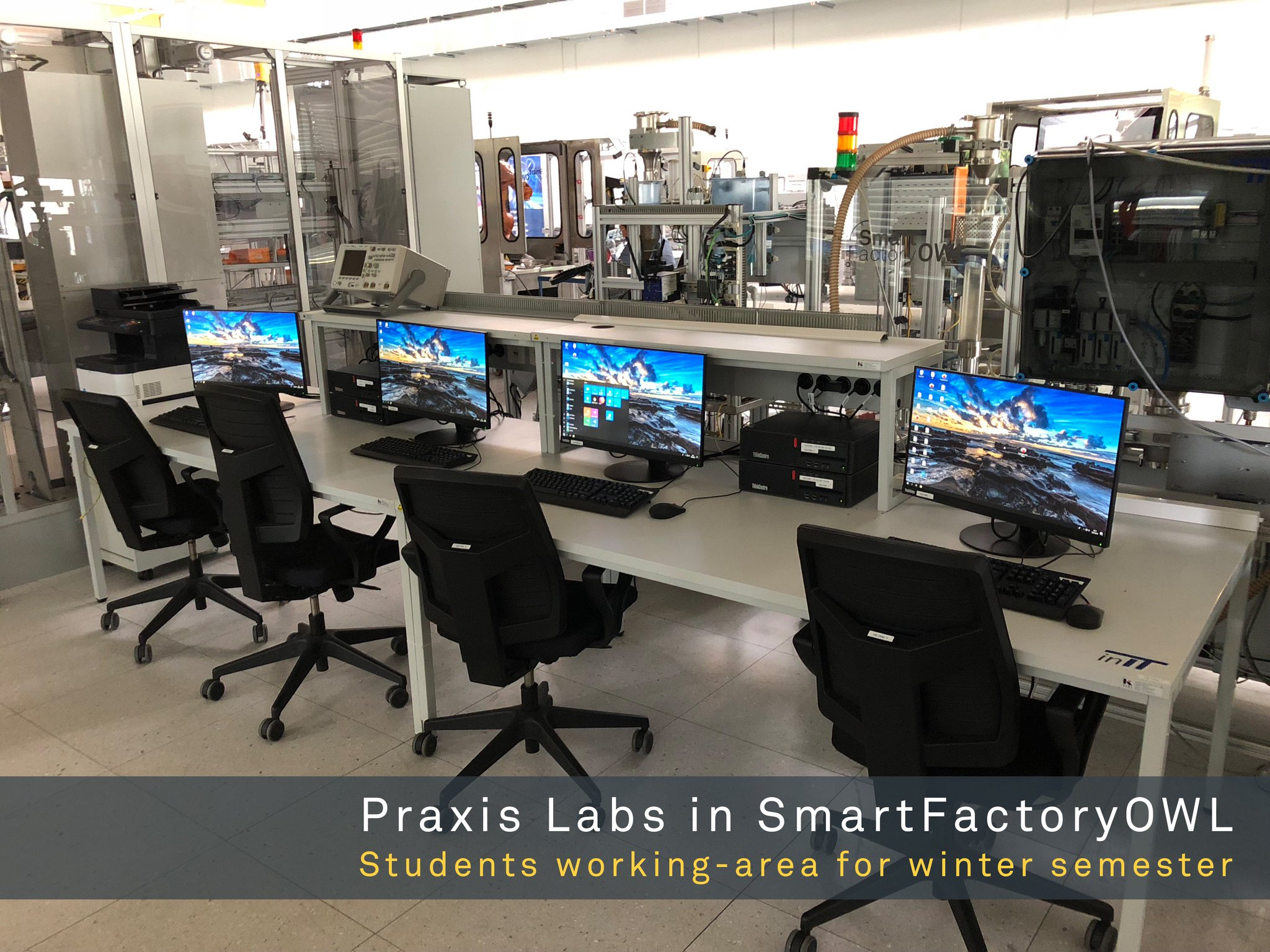 Smartfactoryowl On Twitter Looks Like Control Center Of Smartfactoryowl But It Is The Student Working Area For The Next Winter Semester Preparations Running At Full Speed Hochschuleowl Https T Co Codzfqhwep