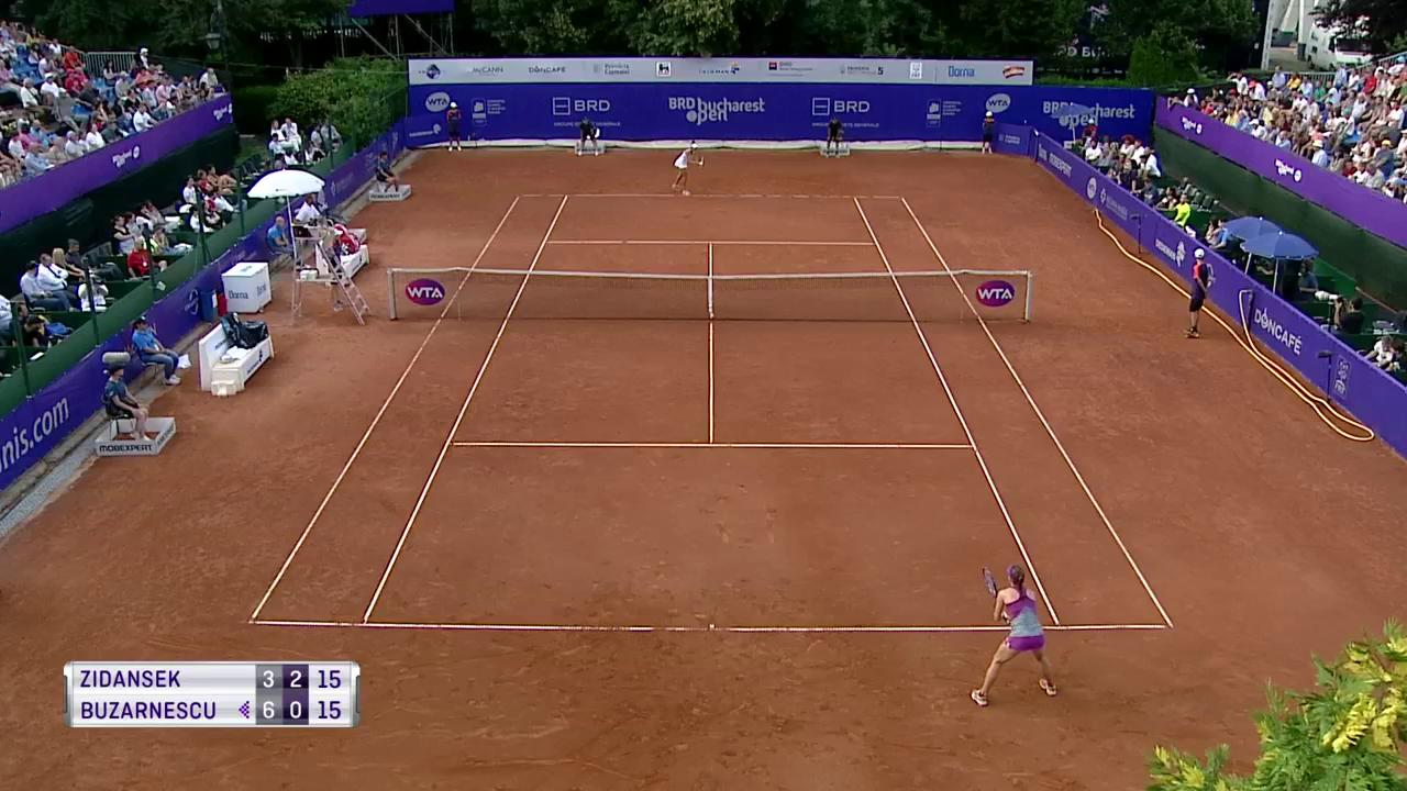 Superb backhand winner from Zidansek! �� #BucharestOpen https://t.co/71ELWttq44