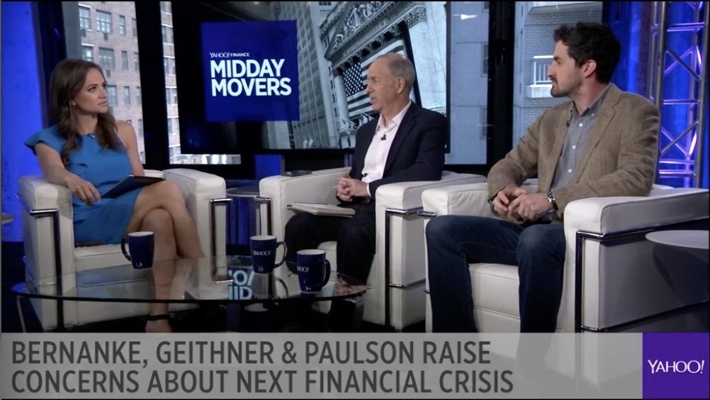 LIVE: Bernanke, Geithner and Paulson say that the next recession is coming. @SeanaNSmith @serwer and @readDanwrite debate whether we're prepared. https://t.co/C9nFey2bTm