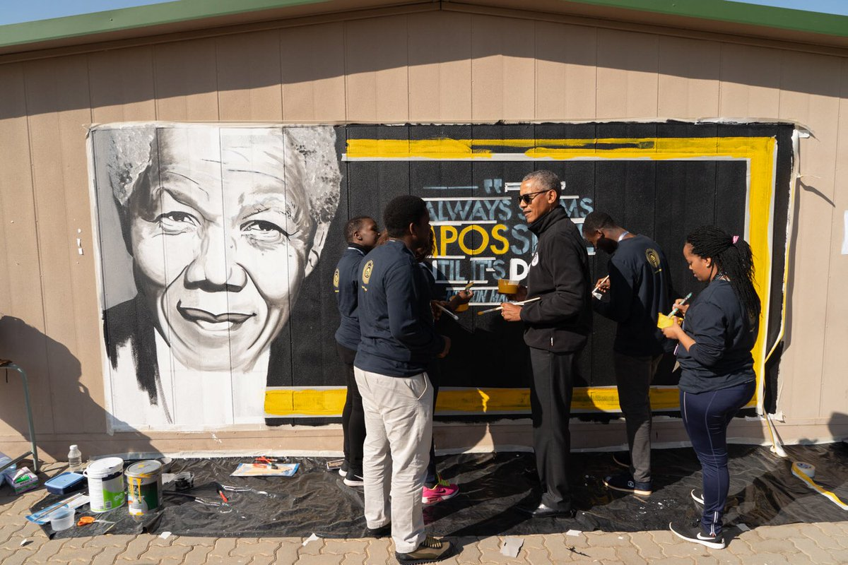 Mandela Day is about taking action to change the world for the better. In these young people, I see Madiba's example of persistence and hope. They are poised to make this world more peaceful, more prosperous, and more just.