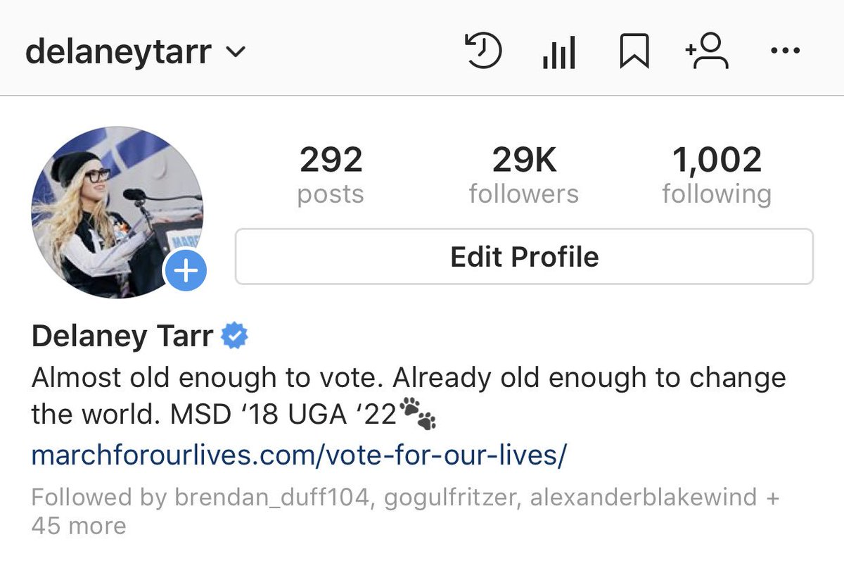 RT @delaneytarr So I think i need to change my instagram bio... any ideas?