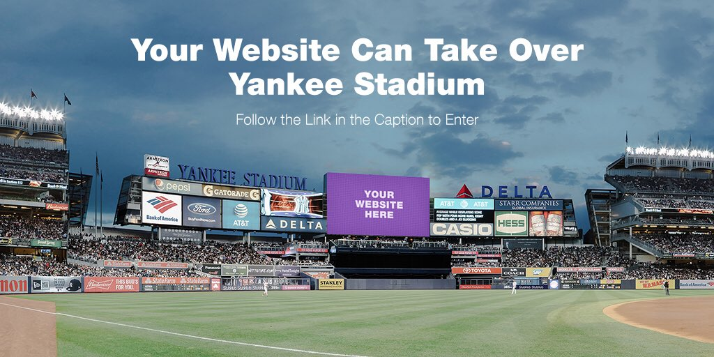 Your Wix website can take over Yankee Stadium! @Wix is giving you the chance to win a once in a lifetime experience — fly round trip to NYC & watch the game LIVE w/ a Yankees legend in your own VIP suite. Go to 👉https://t.co/kYn8YmYuWN