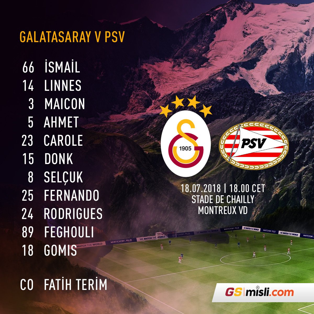 🦁 Here's the tonight's lineup vs @PSV: #WeAreGalatasaray