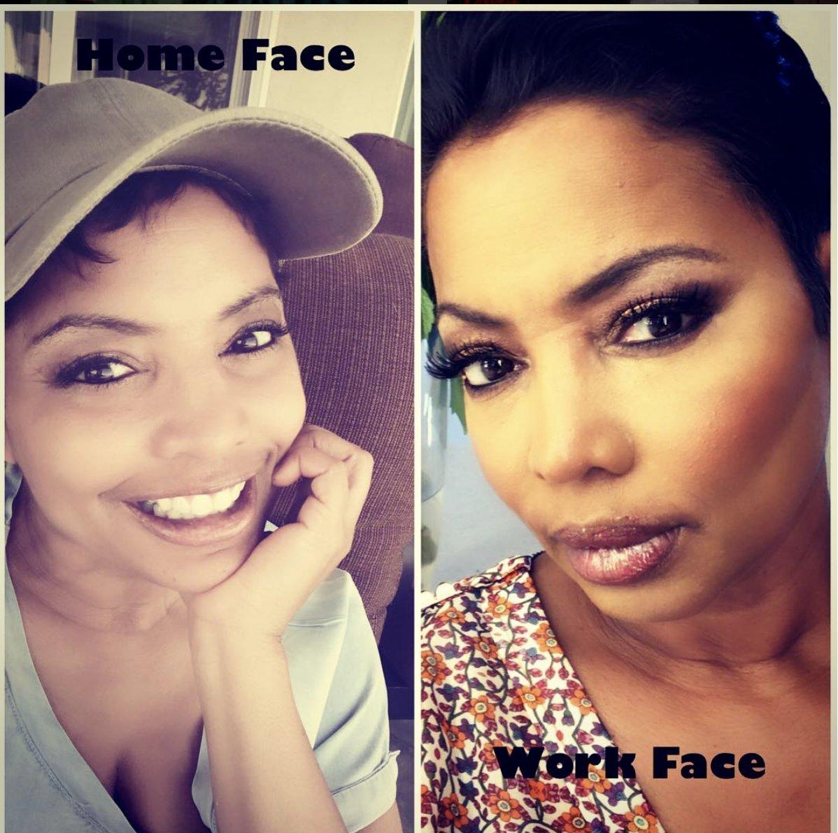 Ebony facial queen shoulders down