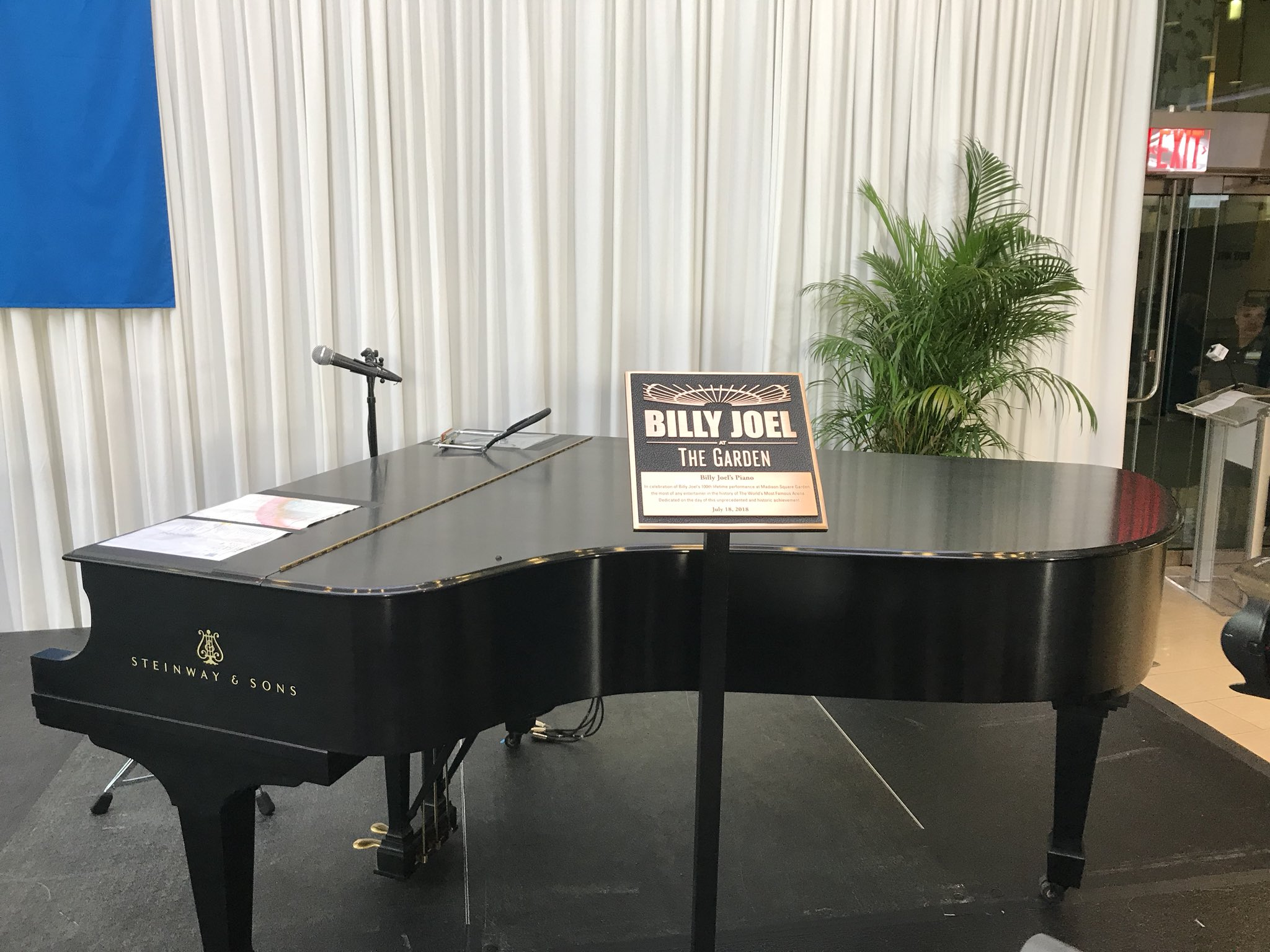 Reloaded twaddle – RT @Q1043: This is @billyjoel's @SteinwayAndSons piano that will be permanently ...