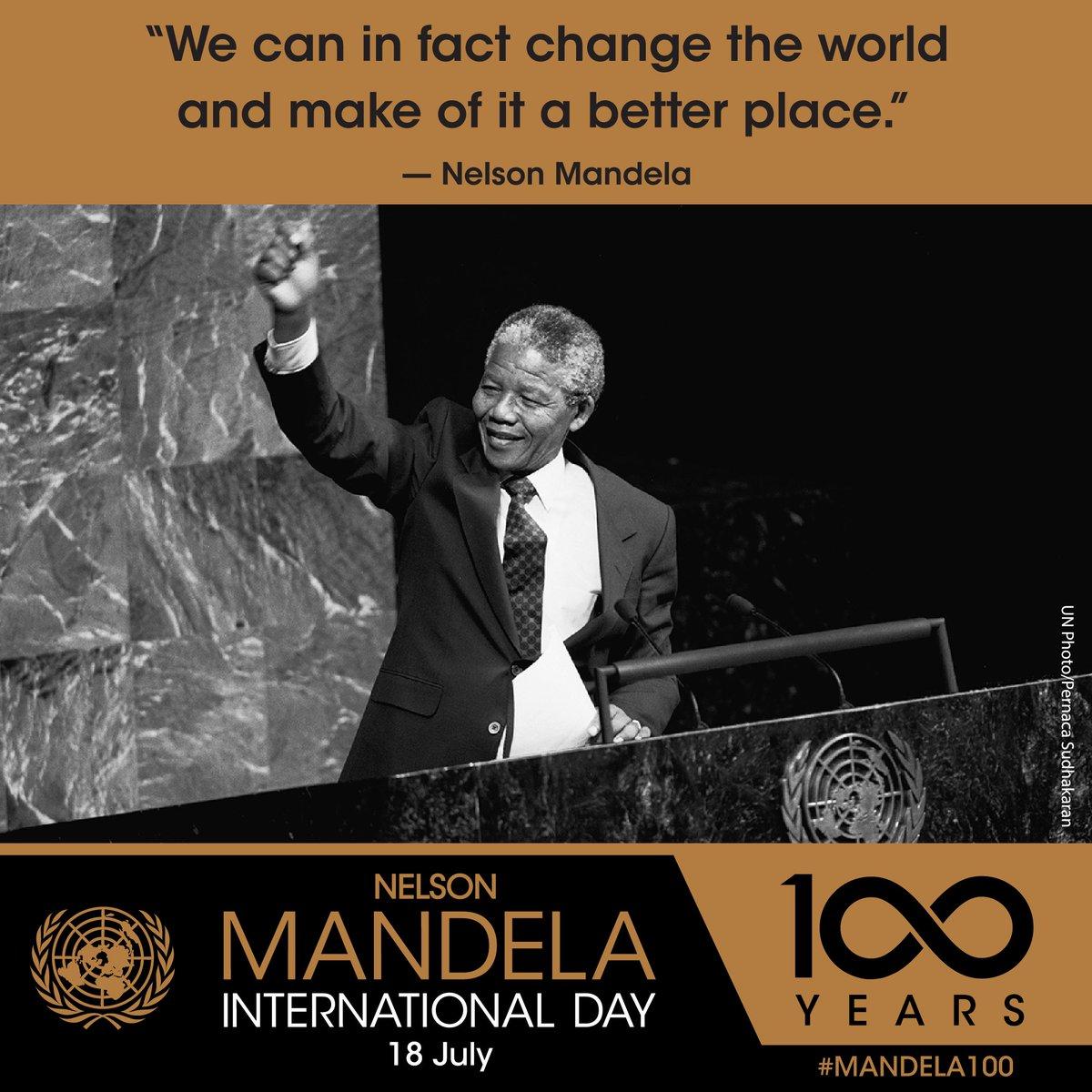 On #MandelaDay, join us & follow @NelsonMandela's footsteps!  Take action for equality & inspire change. #Mandela100
