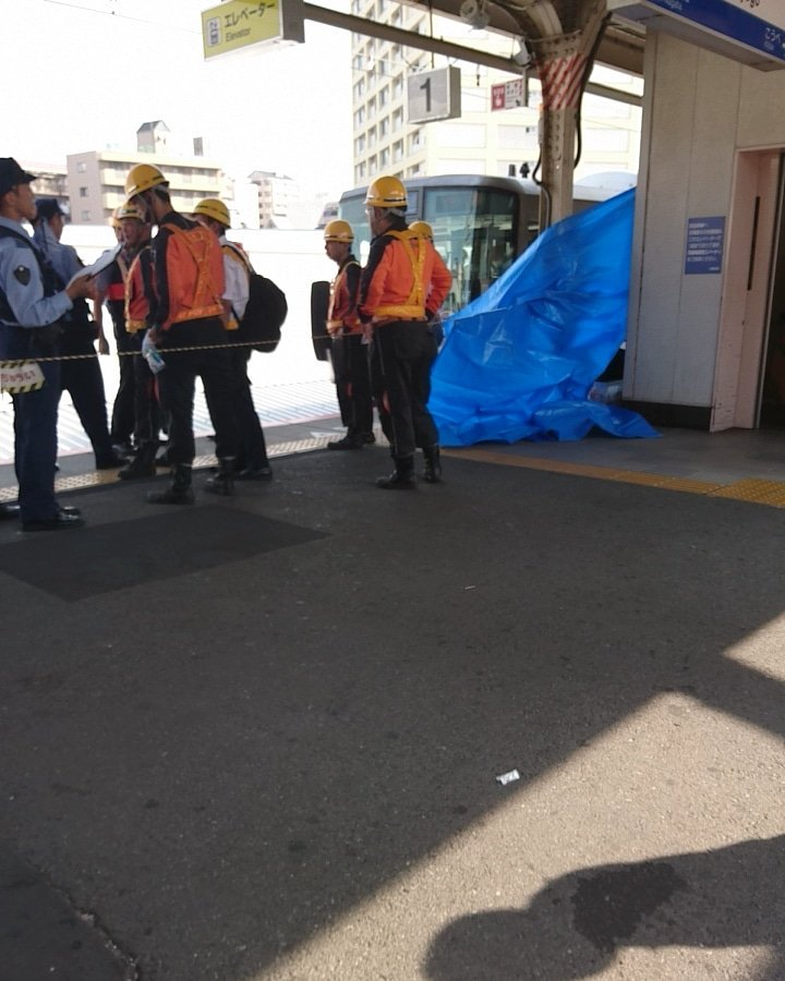 兵庫駅で飛び込み自殺の人身事故が起きた現場画像
