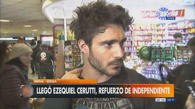 """Cerutti: """"Me sedujo Independiente, es una oportunidad muy grande en mi carrera"""""""