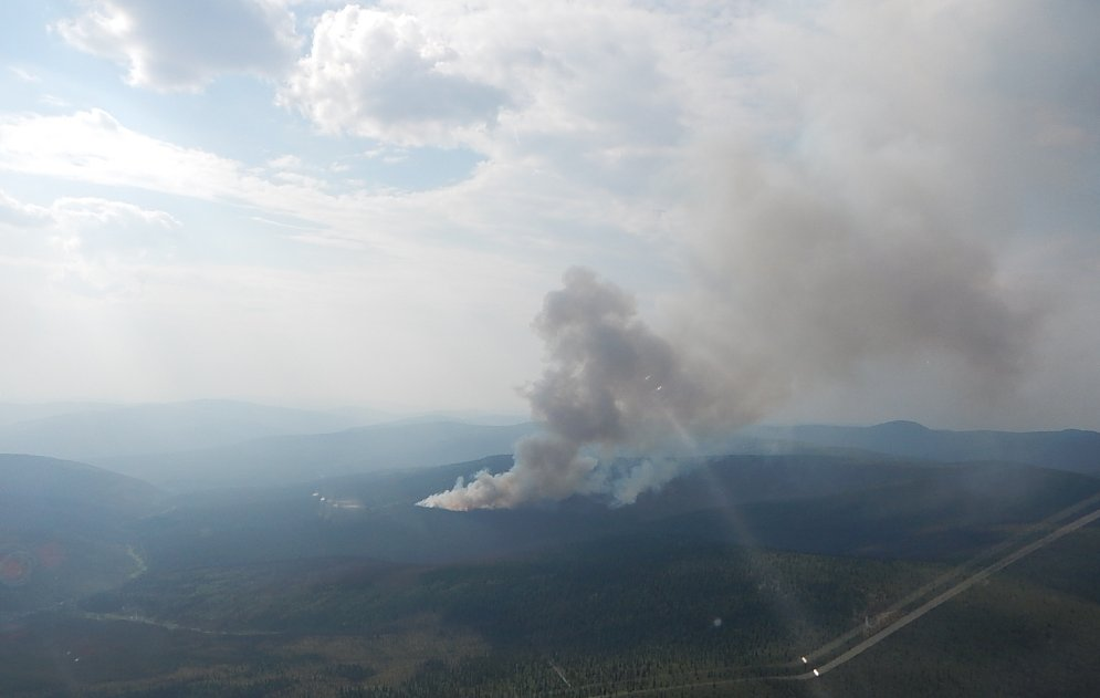 The Fire Is 9 Kilometres From Top Of World Highway And Smoke May Be Visible It Approximately 31 Hectares In Size Being