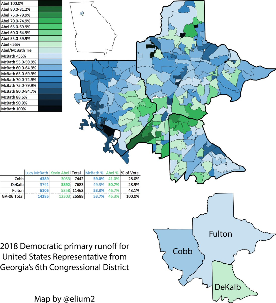 Map Of Georgia 6th Congressional.Eli On Twitter In The Runoff Mcbath And Abel Both Held On To A