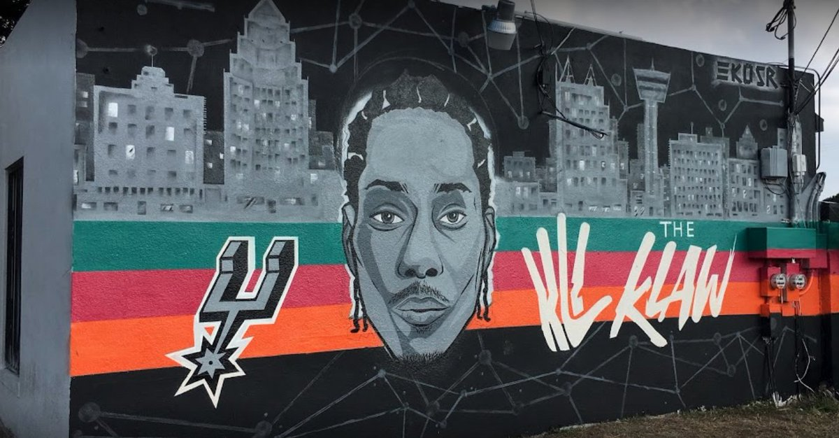 A mural dedicated to Kawhi Leonard in San Antonio has been painted over following his trade to the Raptors.