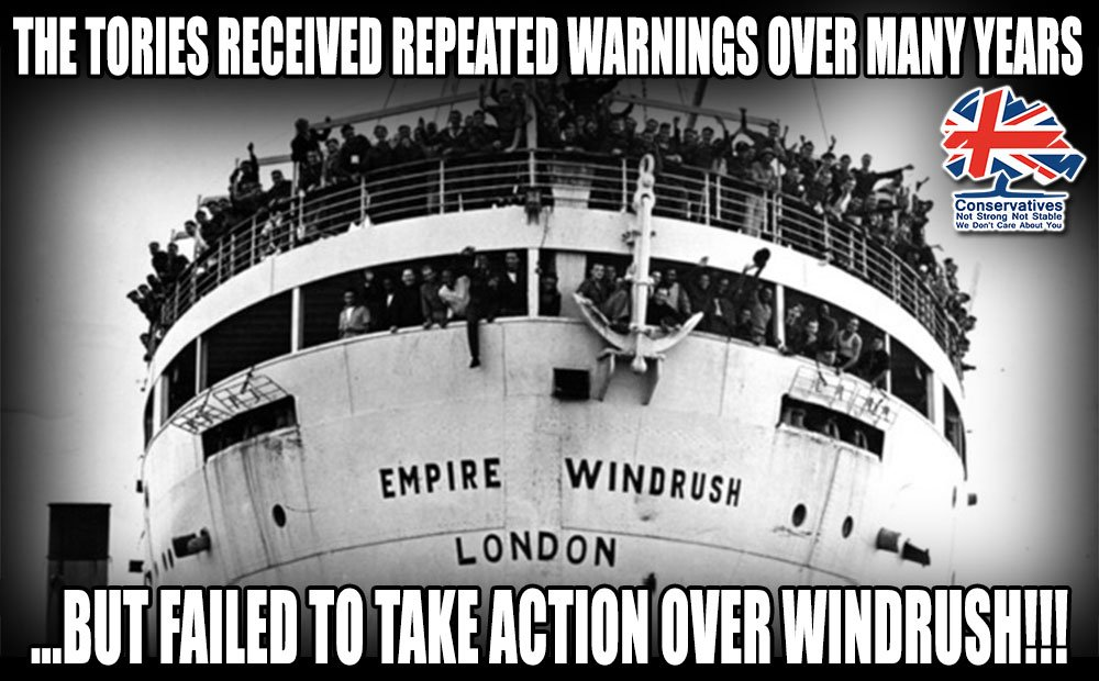 Repeated warnings were made to the Home Office & Foreign Office over many years about the growing Windrush scandal - but the Tories took no action! Huge numbers of Caribbean-born residents have been put through hell after being wrongly classified as illegal immigrants #ShameOnYou