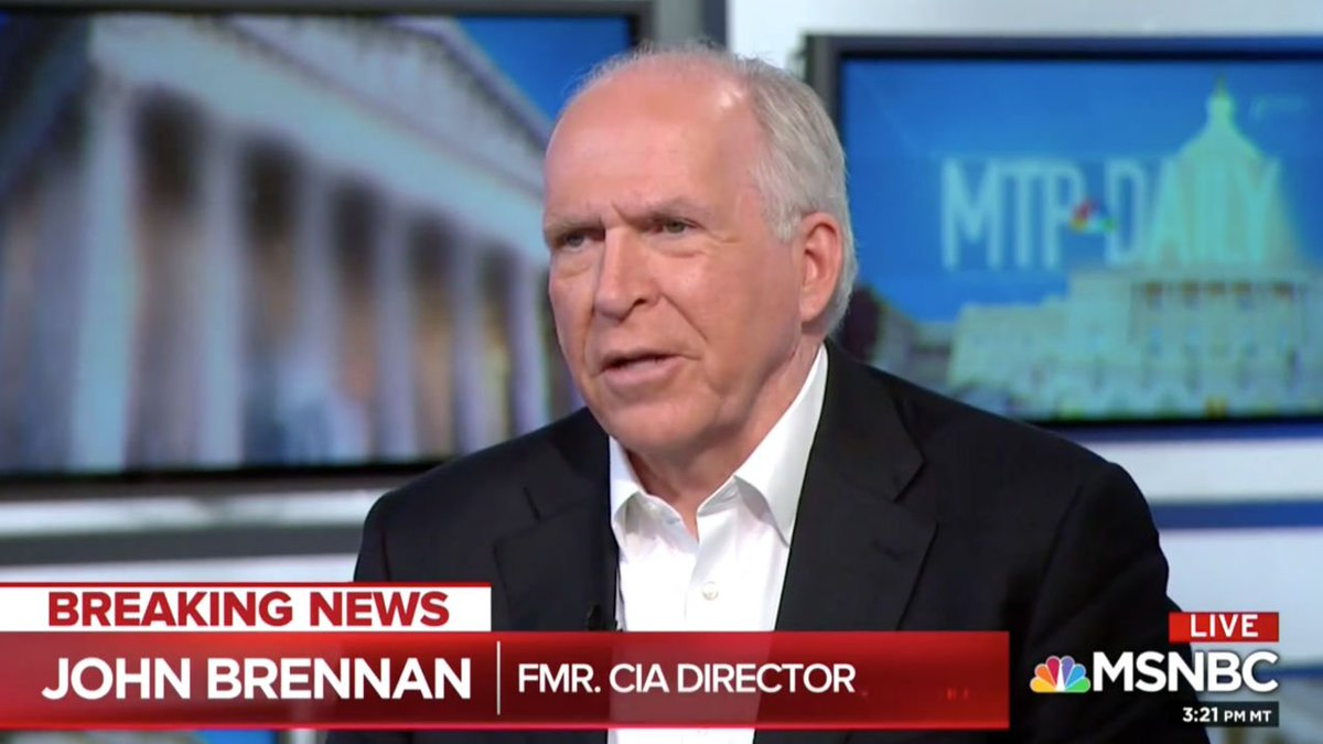 Ex-CIA Chief Brennan on His Criticisms of Trump: I'm Trying to 'Shake Some Sense' Into People Around Him https://t.co/ISImt873sd